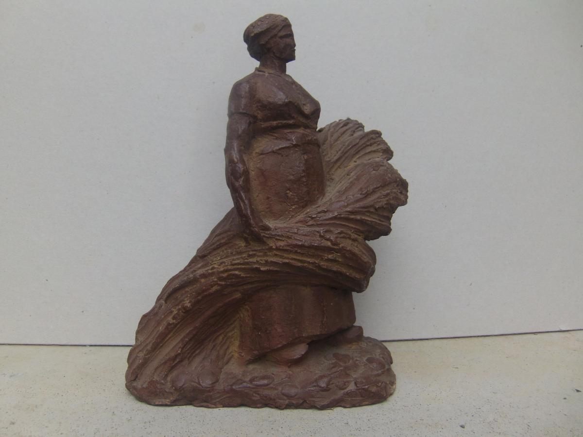 Hervorragend Joseph Witterwulghe Sculpture Femme Au Travail - sculptures Terre  OI47