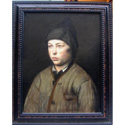 Portrait d'Un Jeune Ramoneur. Epoque Fin XIX ème.