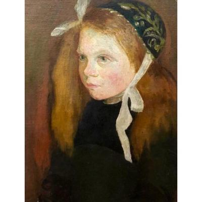 Portrait d'Une Petite Fille Bretonne