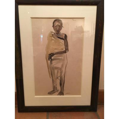 Portrait d'Un Africain Touzi Par Elisabeth Faure