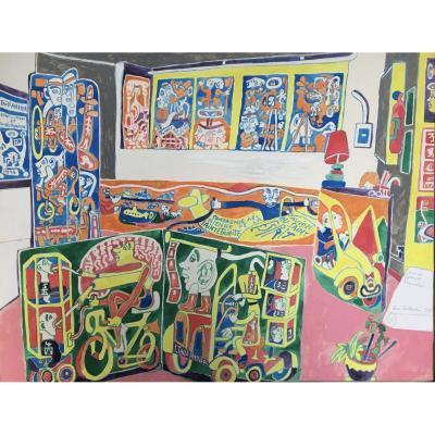 Série Des Portraits d'Exposition Par Yvon Taillandier. Nouvelles Figurations