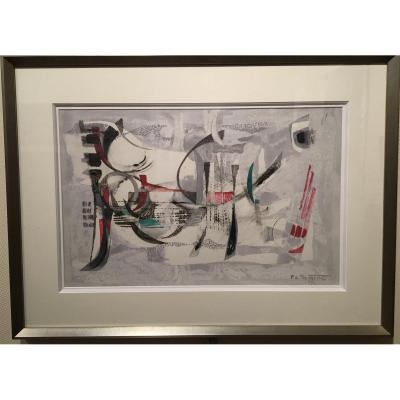 Oeuvre Abstraite Par Pierre De Berroeta