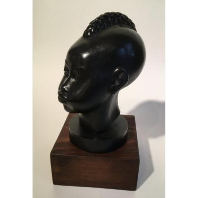Head Of Young African Child By Riccardo Scarpa