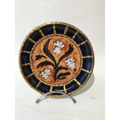 Enamelled Ceramic Plate By André Metthey