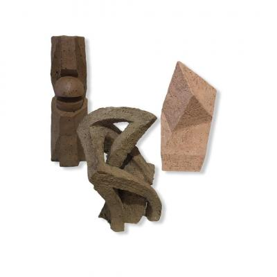 Three Abstract Sandstone Sculptures