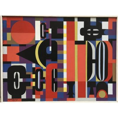 Oeuvre Abstraite Par Auguste Harzic