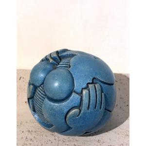 Stoneware Ball By Jean-luc Oudry
