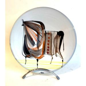 Small Dish With Bull By Roger Capron