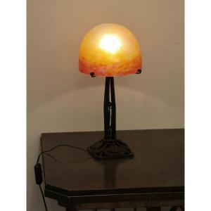 Daum, Lampe De Table Art Déco