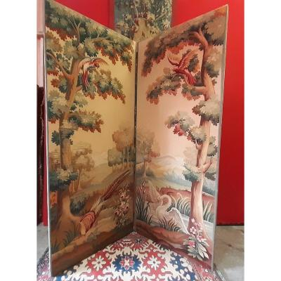 Screen Two Leaves Aubusson Tapestries