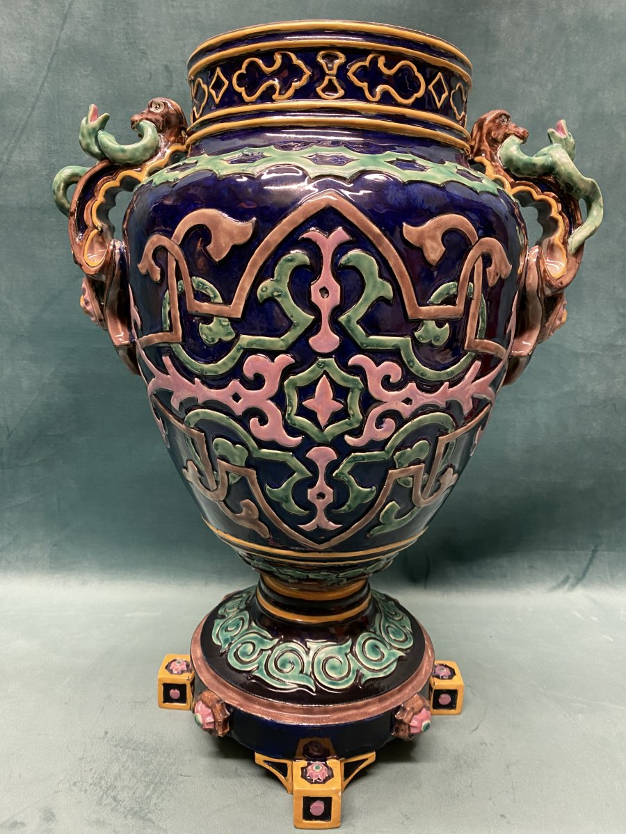 Barbotine Vase.