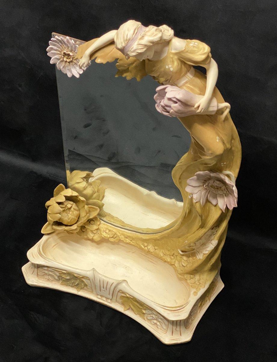 Miroir Art-nouveau de Royal Dux