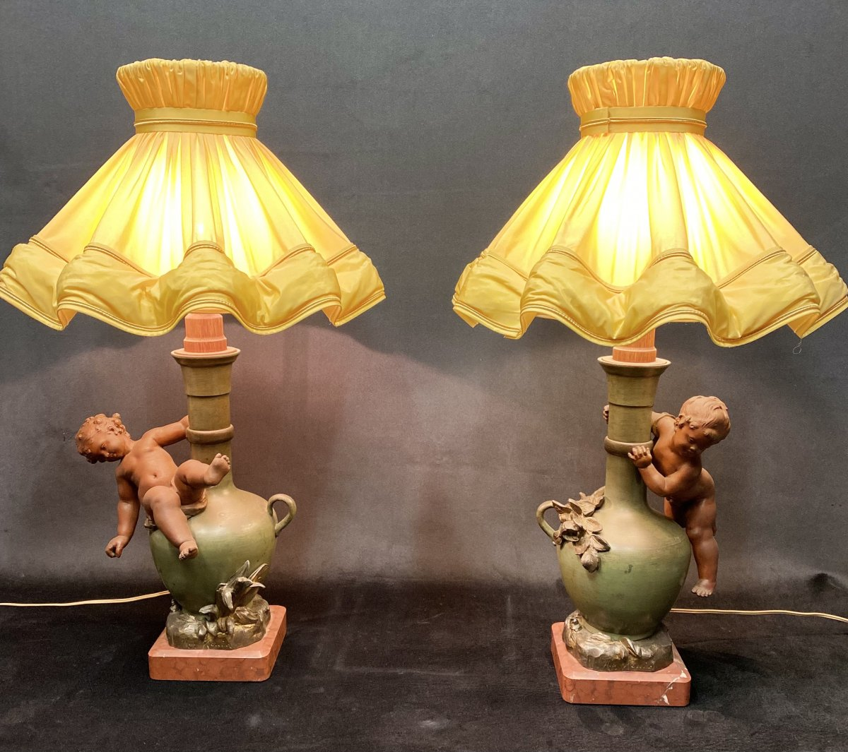 Pair Of Lamps From Moreau.