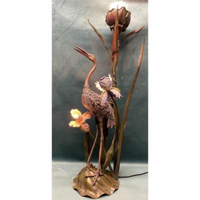 Lampadaire en bronze   Art-nouveau