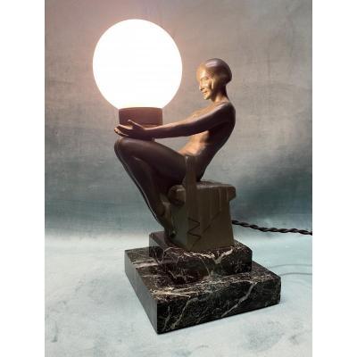 Lampe Art-déco De Max Le Verrier