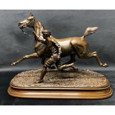 Bronze «cheval» du Comte  Arthur du Passage