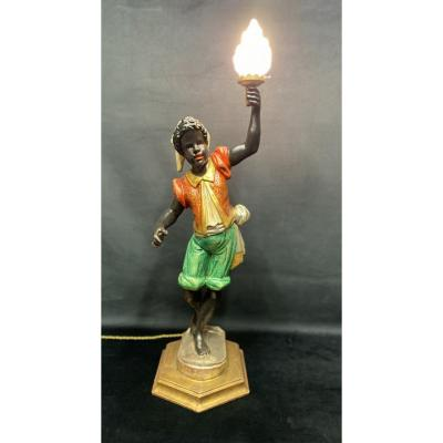 """Lampe porte torchère """"nubien """" style Vénitien"""