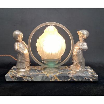 Lampe Art-déco