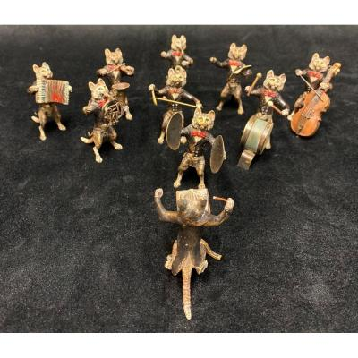 Orchestre de chats en bronze de Vienne