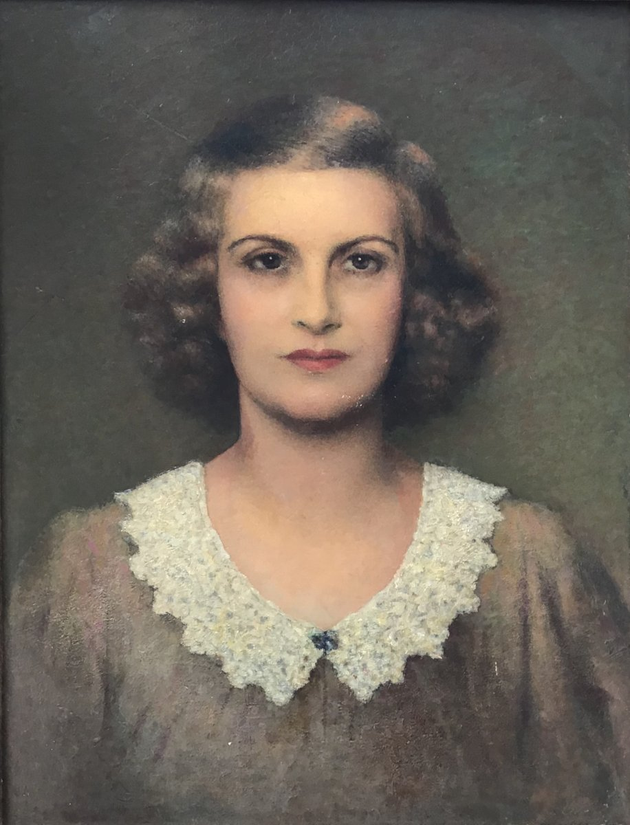 Female Portrait, Oil On Panel, Circa 1905
