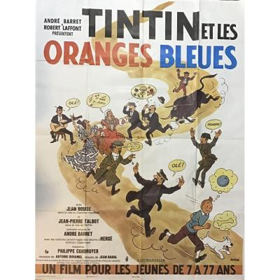 Tintin And The Blue Oranges Printed Poster, 1964 Movie
