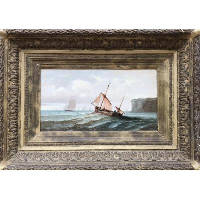 Port Exit, Signed, Oil, 19th