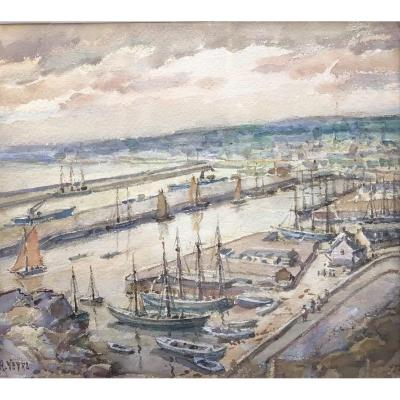André Veyre, Jersey, Watercolor 20th