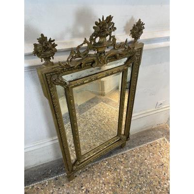 Louis XVI Style Beveled Pareclose Mirror