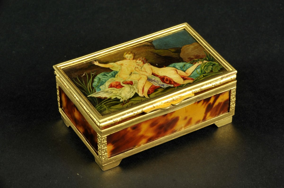 Jewelry Box Decorated With Leda And The Swan By François Boucher