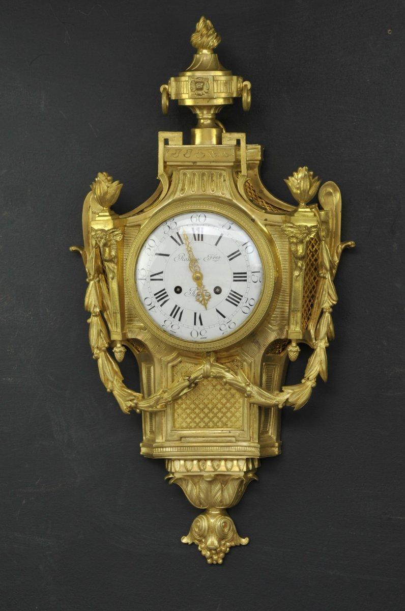 Grand Cartel D'applique De Style Louis XVI Signé Raingo