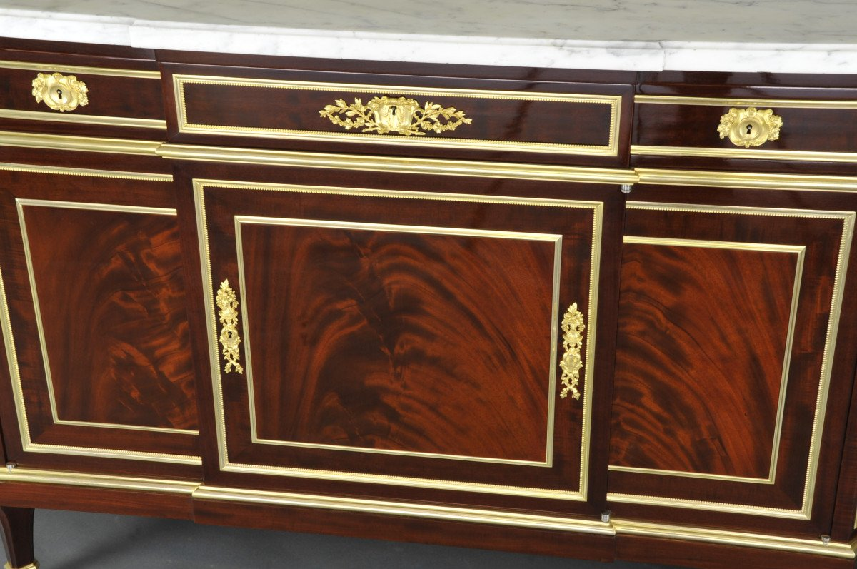 Important Louis XVI Commode Stamped Gervais Durand-photo-2