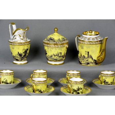 Service En Grisaille – Porcelaine De Paris Fin XVIIIème
