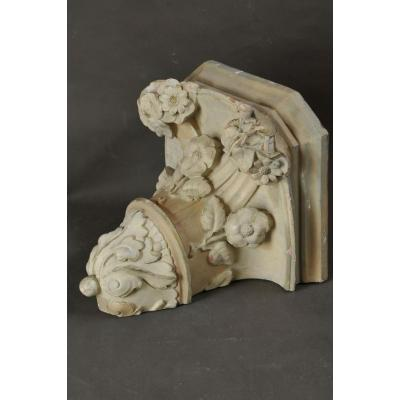 Large Terracotta Baroque Wall-bracket