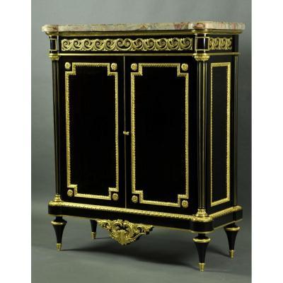 Henry Dasson - Important Meuble d'Appui De Style Louis XVI En Placage D'ébène