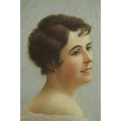 Frédéric Chauveau  - Portrait Féminin 1930 à Laval