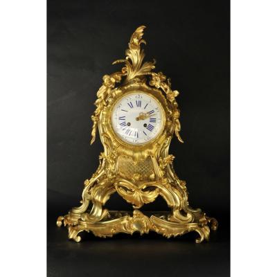 Important Napoleon III Ormolu Cartel Louis XV Rocaille Style