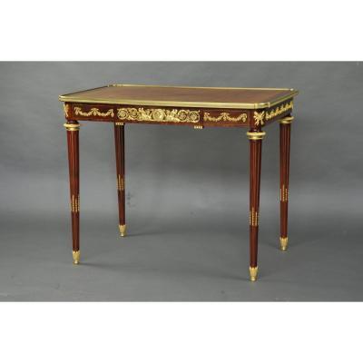 Ormolu Louis XVI Style Desk From A Reisener Model