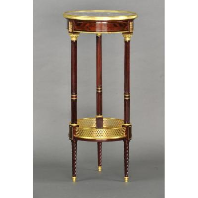 Guéridon De Style Louis XVI Estampillé Paul Sormani