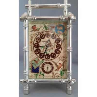 Pendule De Voyage Bambou XIXème (orientalisme)