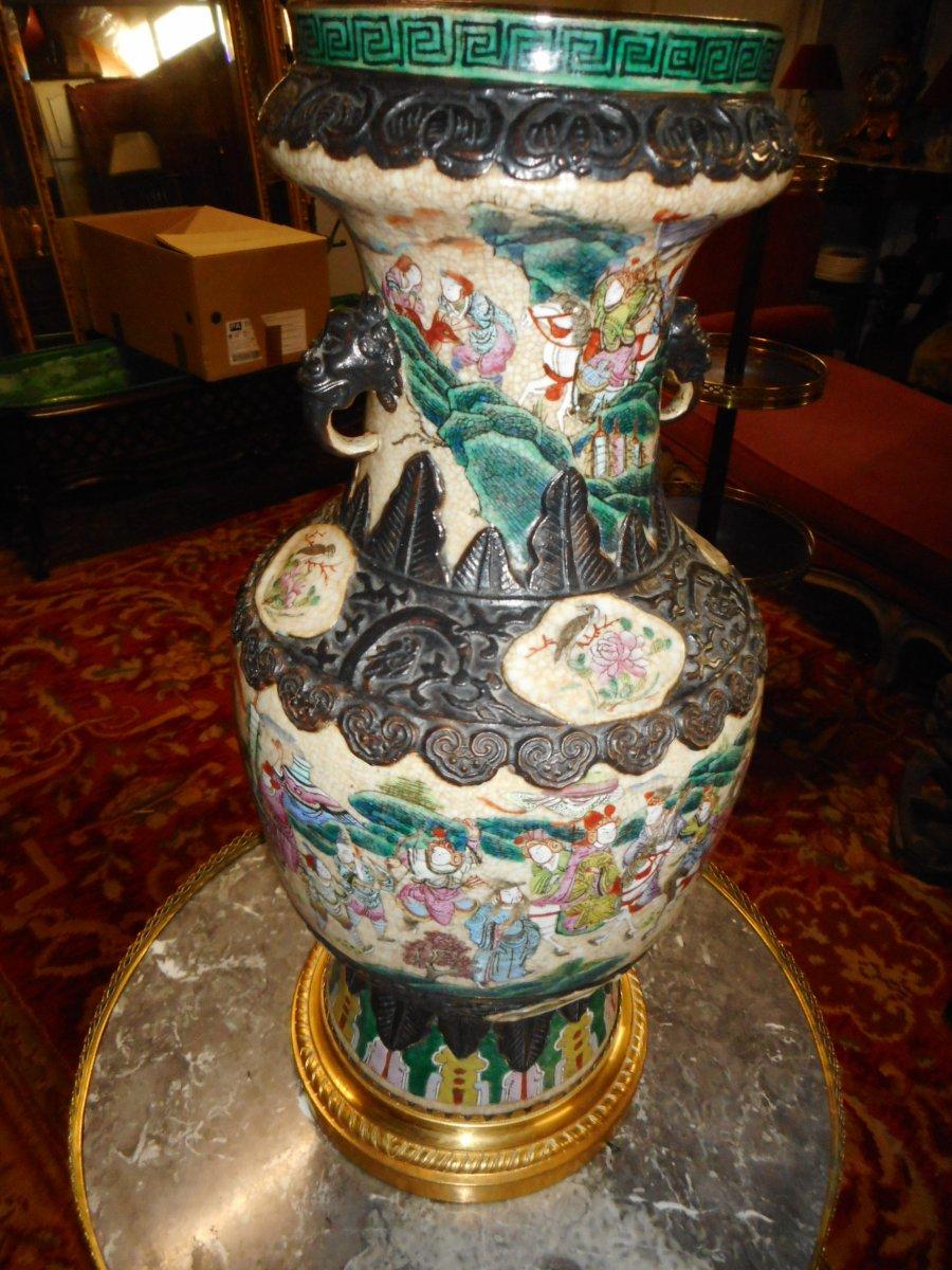 Vase Chine Monture Bronze