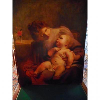 Tableau Mére Et Enfant