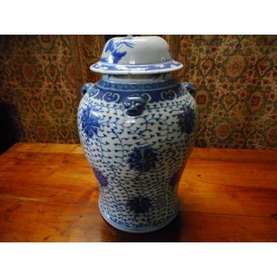Vase Chine Bleu