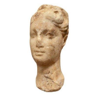 Tête de reine Ptolémaïque en marbre
