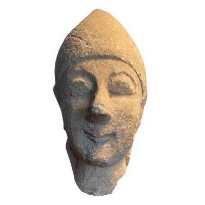 Tête votive Chypriote en calcaire