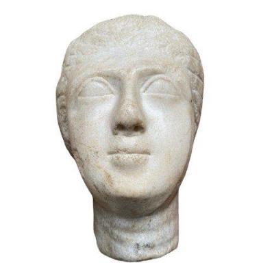 Portrait De Reine Ptolémaïque En Marbre
