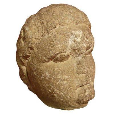 Tête Gauloise provenant d'Alésia