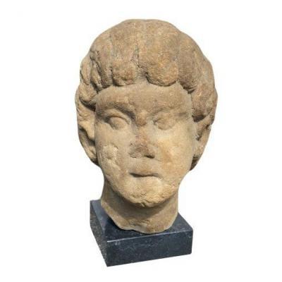 Important Buste d'Apollon Gallo-romain