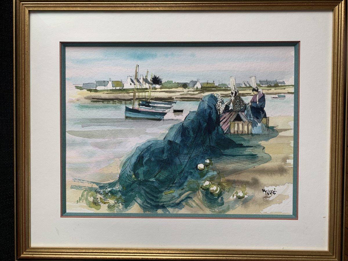 Michel King (1930-) Watercolor