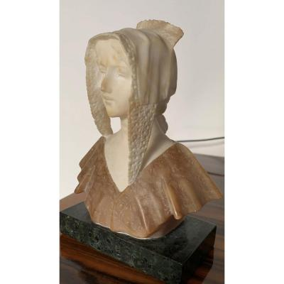 Bust In Marble And Alabaster.