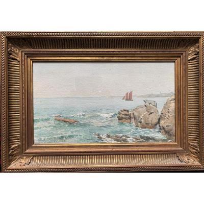 Noemie Genouille (1856-?) Watercolor